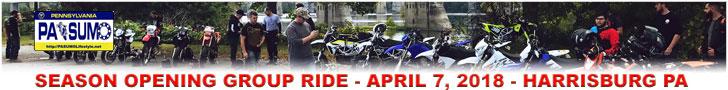 PA SUMO Lifestyle 2018 Season Opening Group Ride